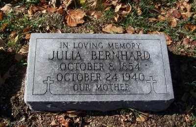 BERNHARD, JULIA - St. Louis County, Missouri   JULIA BERNHARD - Missouri Gravestone Photos