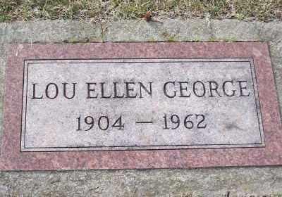 GEORGE, LOU ELLEN - St. Louis County, Missouri | LOU ELLEN GEORGE - Missouri Gravestone Photos