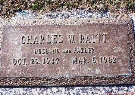 RAITT, CHARLES W - St. Louis County, Missouri | CHARLES W RAITT - Missouri Gravestone Photos