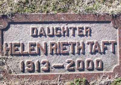 TAFT, HELEN - St. Louis County, Missouri | HELEN TAFT - Missouri Gravestone Photos