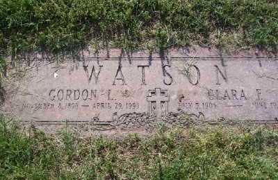 WATSON, CLARA F - St. Louis County, Missouri | CLARA F WATSON - Missouri Gravestone Photos