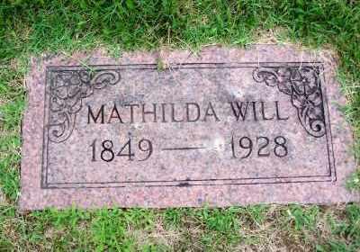 WILL, MATHILDA - St. Louis County, Missouri   MATHILDA WILL - Missouri Gravestone Photos
