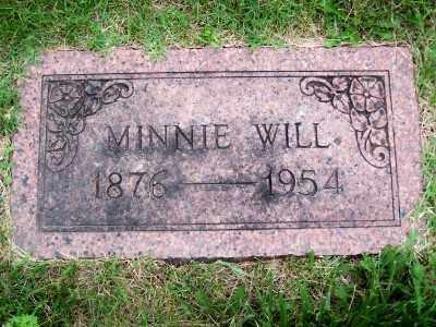 WILL, MINNIE - St. Louis County, Missouri | MINNIE WILL - Missouri Gravestone Photos