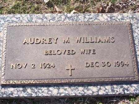 WILLIAMS, AUDREY M - St. Louis County, Missouri | AUDREY M WILLIAMS - Missouri Gravestone Photos