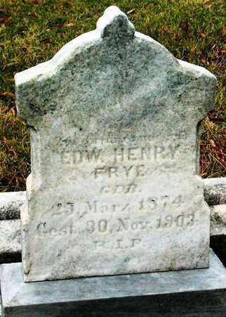FRYE, EDWARD HENRY - St. Louis City County, Missouri   EDWARD HENRY FRYE - Missouri Gravestone Photos