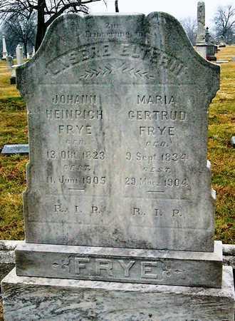 BACKHAUS FRYE, MARIA GERTUD - St. Louis City County, Missouri | MARIA GERTUD BACKHAUS FRYE - Missouri Gravestone Photos