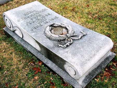 SCHUMACKER, HERMAN - St. Louis City County, Missouri | HERMAN SCHUMACKER - Missouri Gravestone Photos