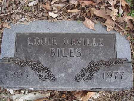 BILES, LOUIE ORVILLE - Stone County, Missouri   LOUIE ORVILLE BILES - Missouri Gravestone Photos