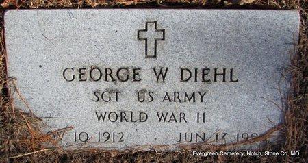 DIEHL (VETERAN WWII), GEORGE W  - Stone County, Missouri | GEORGE W  DIEHL (VETERAN WWII) - Missouri Gravestone Photos