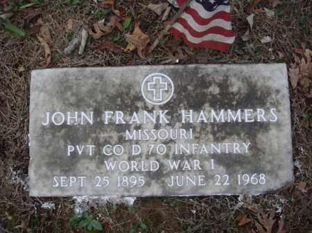 HAMMERS, JOHN FRANK VETERAN WWI - Stone County, Missouri | JOHN FRANK VETERAN WWI HAMMERS - Missouri Gravestone Photos
