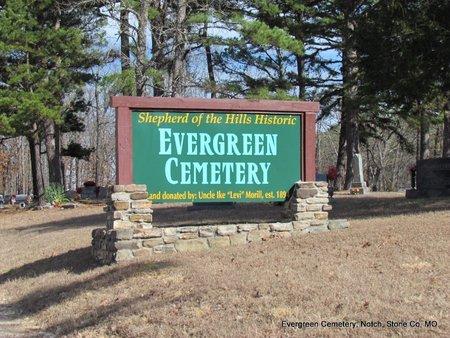*HISTORIC EVERGREEN CEMETERY, . - Stone County, Missouri   . *HISTORIC EVERGREEN CEMETERY - Missouri Gravestone Photos