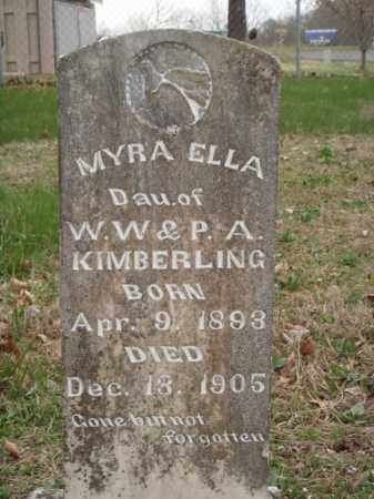 KIMBERLING, MYRA ELLA - Stone County, Missouri | MYRA ELLA KIMBERLING - Missouri Gravestone Photos
