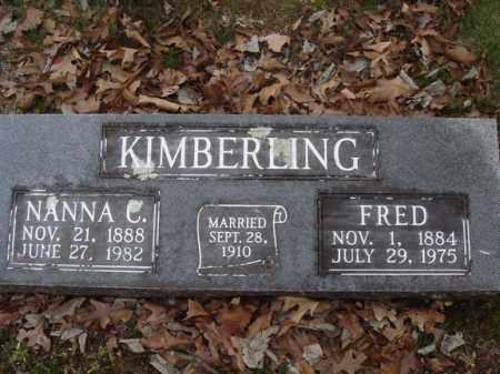 KIMBERLING, FRED - Stone County, Missouri | FRED KIMBERLING - Missouri Gravestone Photos