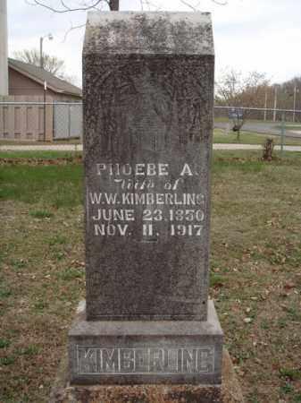 KIMBERLING, PHOEBE A - Stone County, Missouri | PHOEBE A KIMBERLING - Missouri Gravestone Photos