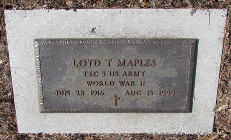 MAPLES (VETERAN WWII), LOYD T  - Stone County, Missouri | LOYD T  MAPLES (VETERAN WWII) - Missouri Gravestone Photos