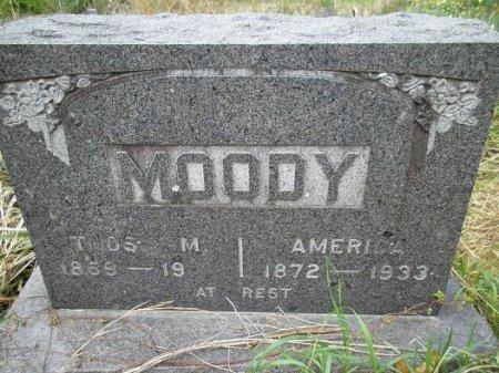 MOODY, AMERICA - Stone County, Missouri | AMERICA MOODY - Missouri Gravestone Photos