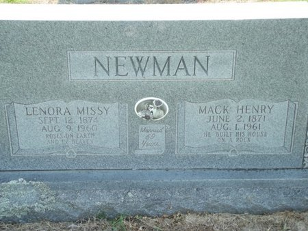 NEWMAN, LENORA MISSY - Stone County, Missouri | LENORA MISSY NEWMAN - Missouri Gravestone Photos