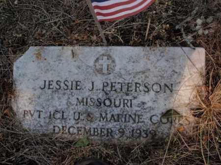 PETERSON, JESSIE J VETERAN - Stone County, Missouri | JESSIE J VETERAN PETERSON - Missouri Gravestone Photos