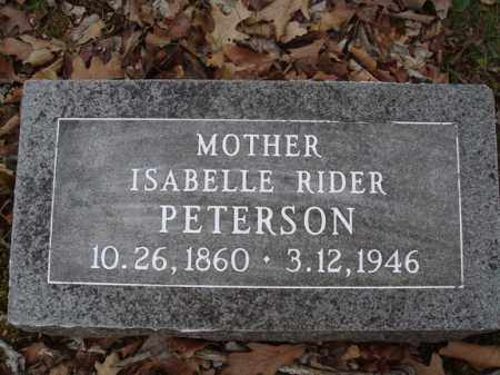 PETERSON, ISABELLE RIDER - Stone County, Missouri   ISABELLE RIDER PETERSON - Missouri Gravestone Photos