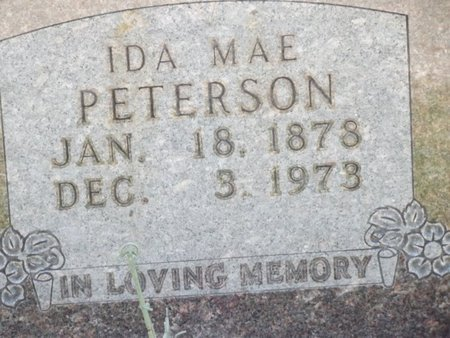PETERSON, IDA MAE - Stone County, Missouri | IDA MAE PETERSON - Missouri Gravestone Photos
