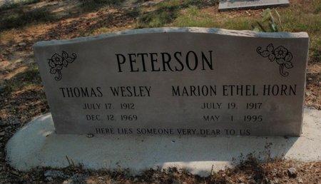 PETERSON, THOMAS WESLEY - Stone County, Missouri | THOMAS WESLEY PETERSON - Missouri Gravestone Photos