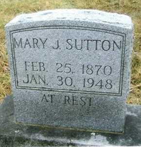 BRUTON SUTTON, MARY JANE  - Stone County, Missouri | MARY JANE  BRUTON SUTTON - Missouri Gravestone Photos