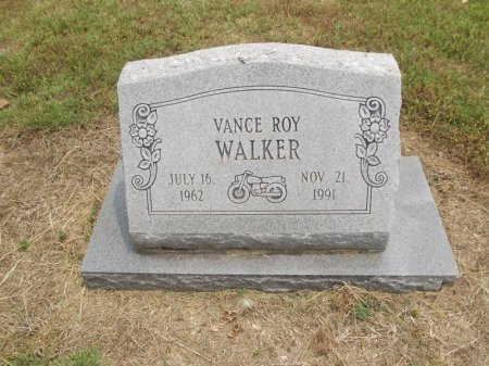 WALKER, VANCE ROY - Stone County, Missouri | VANCE ROY WALKER - Missouri Gravestone Photos