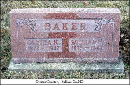BAKER, OLETHA NANCY - Sullivan County, Missouri | OLETHA NANCY BAKER - Missouri Gravestone Photos