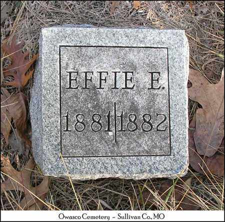 TAYLOR, EFFIE E. - Sullivan County, Missouri   EFFIE E. TAYLOR - Missouri Gravestone Photos