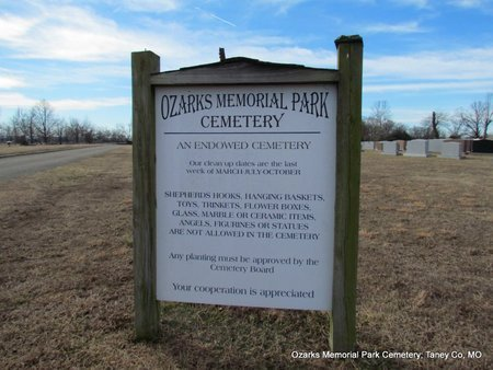 *AN ENDOWED CEMETERY RULES,  - Taney County, Missouri |  *AN ENDOWED CEMETERY RULES - Missouri Gravestone Photos