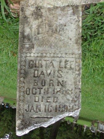 LEE DAVIS, GIRTA - Taney County, Missouri   GIRTA LEE DAVIS - Missouri Gravestone Photos