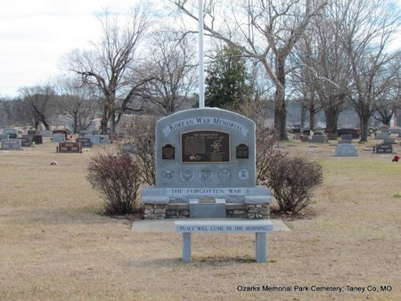 *KOREAN WAR MEMORIAL OVERVIEW,  - Taney County, Missouri |  *KOREAN WAR MEMORIAL OVERVIEW - Missouri Gravestone Photos
