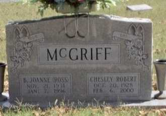 ROSS MCGRIFF, BEVERLY JOANNE - Taney County, Missouri | BEVERLY JOANNE ROSS MCGRIFF - Missouri Gravestone Photos