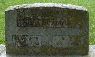 WEATERMAN, ELIZABETH - Taney County, Missouri | ELIZABETH WEATERMAN - Missouri Gravestone Photos