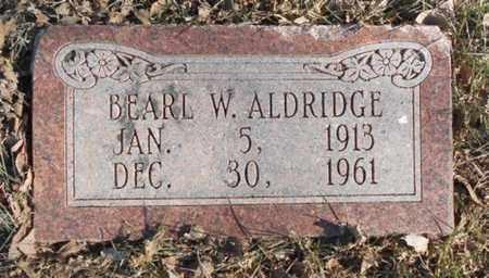 ALDRIDGE, BEARL W. - Texas County, Missouri | BEARL W. ALDRIDGE - Missouri Gravestone Photos