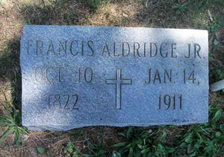ALDRIDGE, FRANCIS, JR. - Texas County, Missouri | FRANCIS, JR. ALDRIDGE - Missouri Gravestone Photos