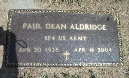 ALDRIDGE, PAUL DEAN  VETERAN - Texas County, Missouri | PAUL DEAN  VETERAN ALDRIDGE - Missouri Gravestone Photos