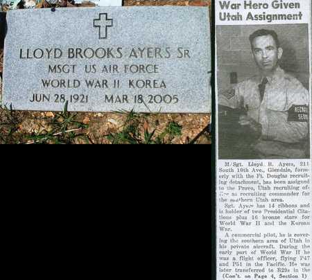 AYERS, LLOYD BROOKS SR VETERAN WWII MEDAL WINNER - Texas County, Missouri   LLOYD BROOKS SR VETERAN WWII MEDAL WINNER AYERS - Missouri Gravestone Photos