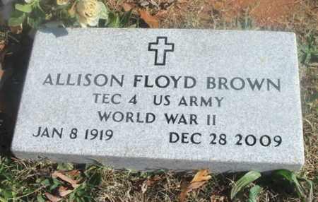 BROWN, ALLISON FLOYD VETERAN WWII - Texas County, Missouri | ALLISON FLOYD VETERAN WWII BROWN - Missouri Gravestone Photos