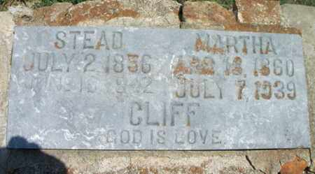 CLIFF, MARTHA - Texas County, Missouri | MARTHA CLIFF - Missouri Gravestone Photos