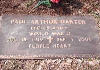 DARTER, PAUL ARTHUR VETERAN WWII - Texas County, Missouri   PAUL ARTHUR VETERAN WWII DARTER - Missouri Gravestone Photos