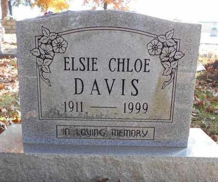 DAVIS, ELSIE CHLOE - Texas County, Missouri   ELSIE CHLOE DAVIS - Missouri Gravestone Photos