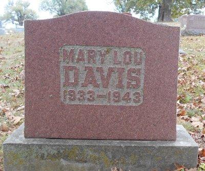 DAVIS, MARY LOU - Texas County, Missouri | MARY LOU DAVIS - Missouri Gravestone Photos