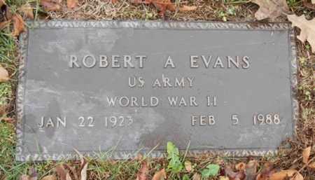 EVANS, ROBERT A. VETERAN WWII - Texas County, Missouri | ROBERT A. VETERAN WWII EVANS - Missouri Gravestone Photos