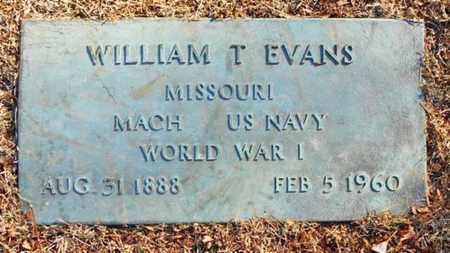 EVANS, WILLIAM T.   VETERAN WWI - Texas County, Missouri   WILLIAM T.   VETERAN WWI EVANS - Missouri Gravestone Photos