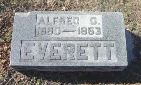 EVERETT, ALFRED G. - Texas County, Missouri | ALFRED G. EVERETT - Missouri Gravestone Photos