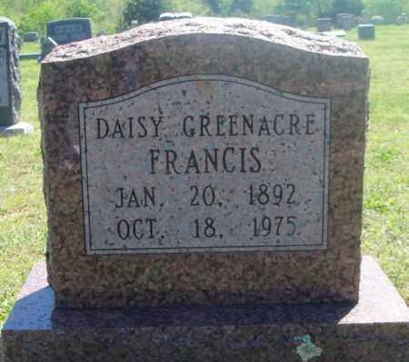 GREENACRE FRANCIS, DAISY - Texas County, Missouri | DAISY GREENACRE FRANCIS - Missouri Gravestone Photos