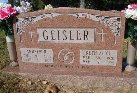 GEISLER, ANDREW RUFUS - Texas County, Missouri | ANDREW RUFUS GEISLER - Missouri Gravestone Photos