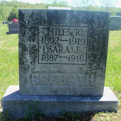 GOFORTH, MILES R. - Texas County, Missouri | MILES R. GOFORTH - Missouri Gravestone Photos