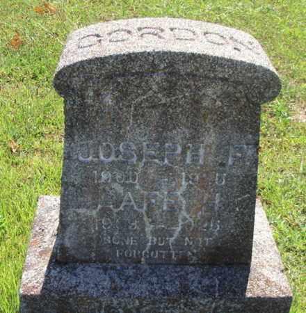 GORDON, JOSEPH F. - Texas County, Missouri | JOSEPH F. GORDON - Missouri Gravestone Photos